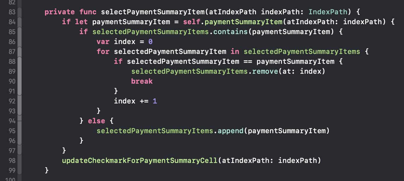 Code-Blöcke können ineinander verschachtelt sein, so wie in diesem Beispiel zu sehen.