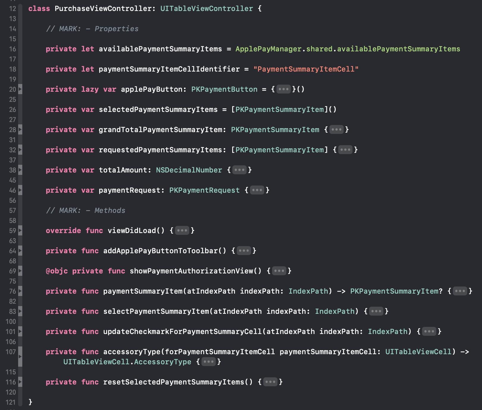 Durch Code Folding kann der Inhalt einer Quellcode-Datei deutlich übersichtlicher gestaltet werden.