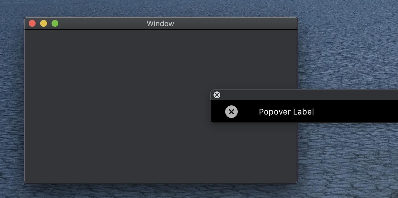 Wählt ihr den Popover-Button einer Touch-Bar aus, wird automatisch die dem Popover zugehörige Touch Bar geladen und angezeigt.