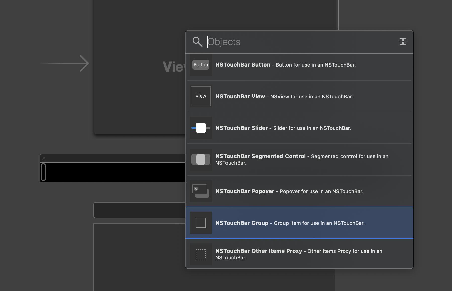 Die Group wirkt auf den ersten Blick im Interface Builder unscheinbar.