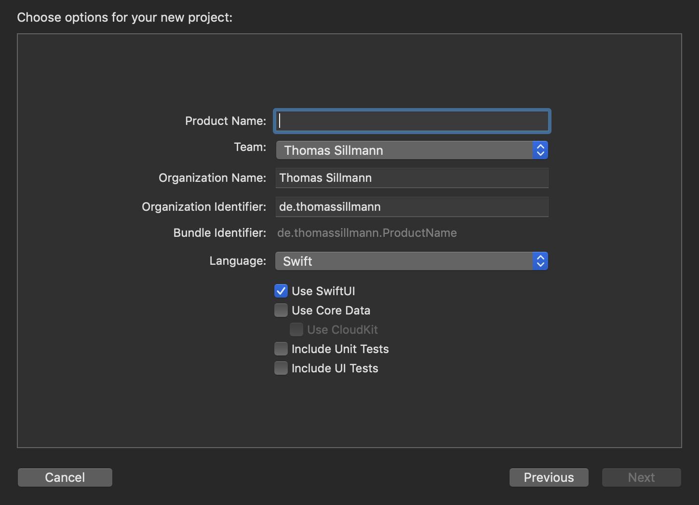 """Mithilfe der Checkbox """"Use SwiftUI"""" könnt ihr Apples neues UI-Framework direkt als Basis für neue Projekte einsetzen."""