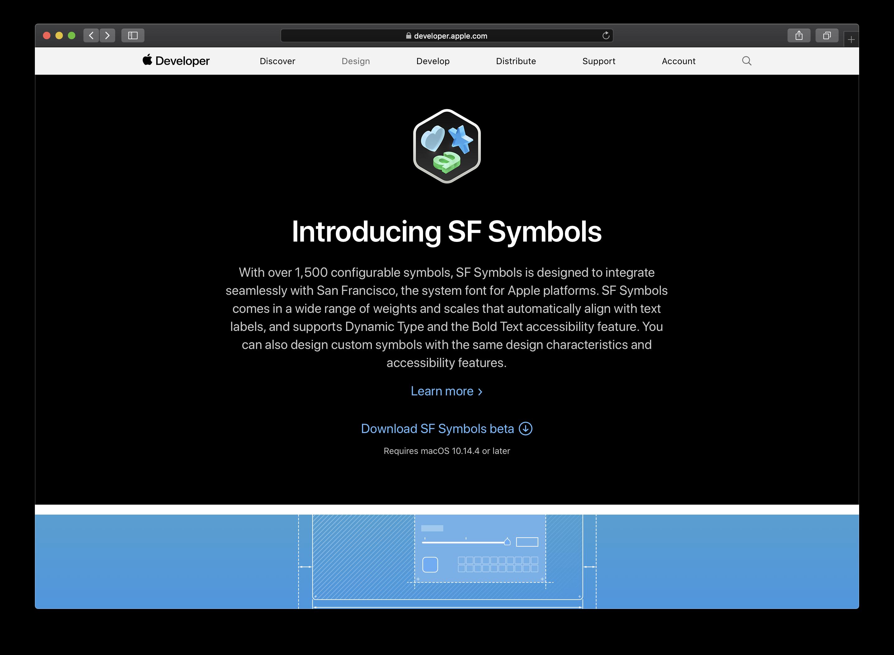 """""""SF Symbols beta"""" kann von Apples Developer Website heruntergeladen werden."""