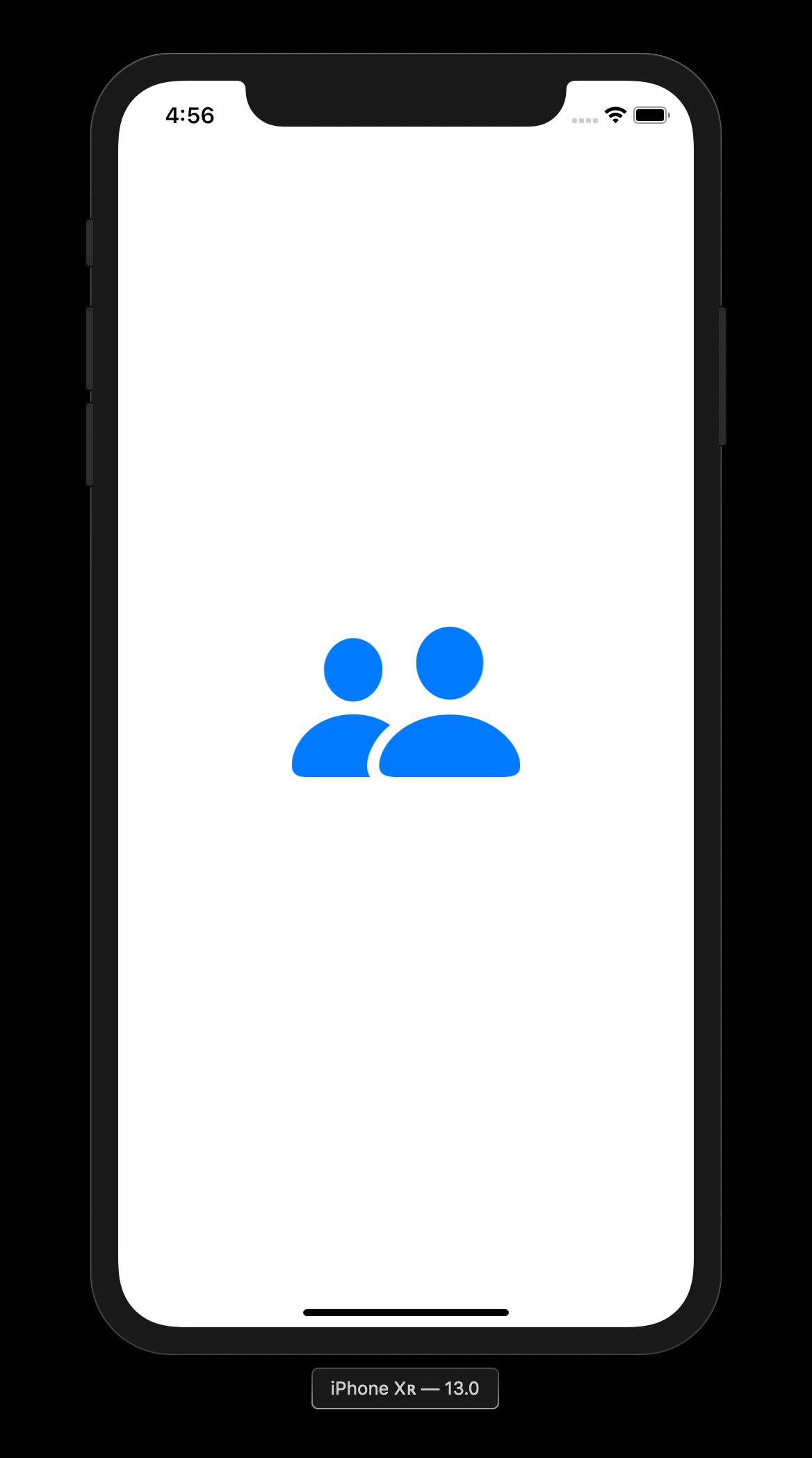 Die Image-View dieser Beispiel-App zeigt eine Grafik aus der SF Symbols Library an.