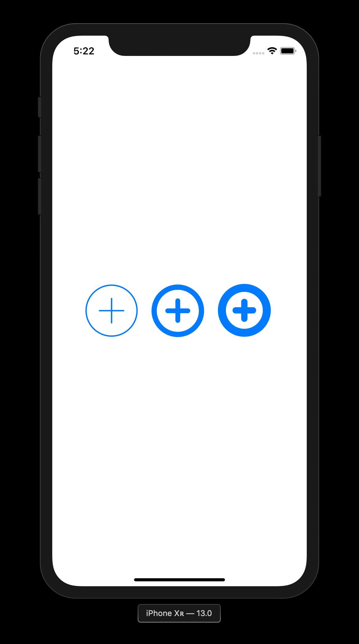 Mithilfe von Konfigurationen kann das Aussehen von auf SF Symbols basierenden Grafiken angepasst werden.
