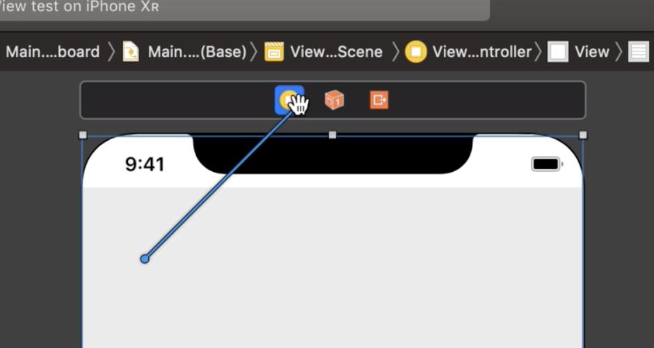 Durch die Verbindung von Table-View und View-Controller kann letzter als Data Source für die Table-View bequem über das Storyboard definiert werden.
