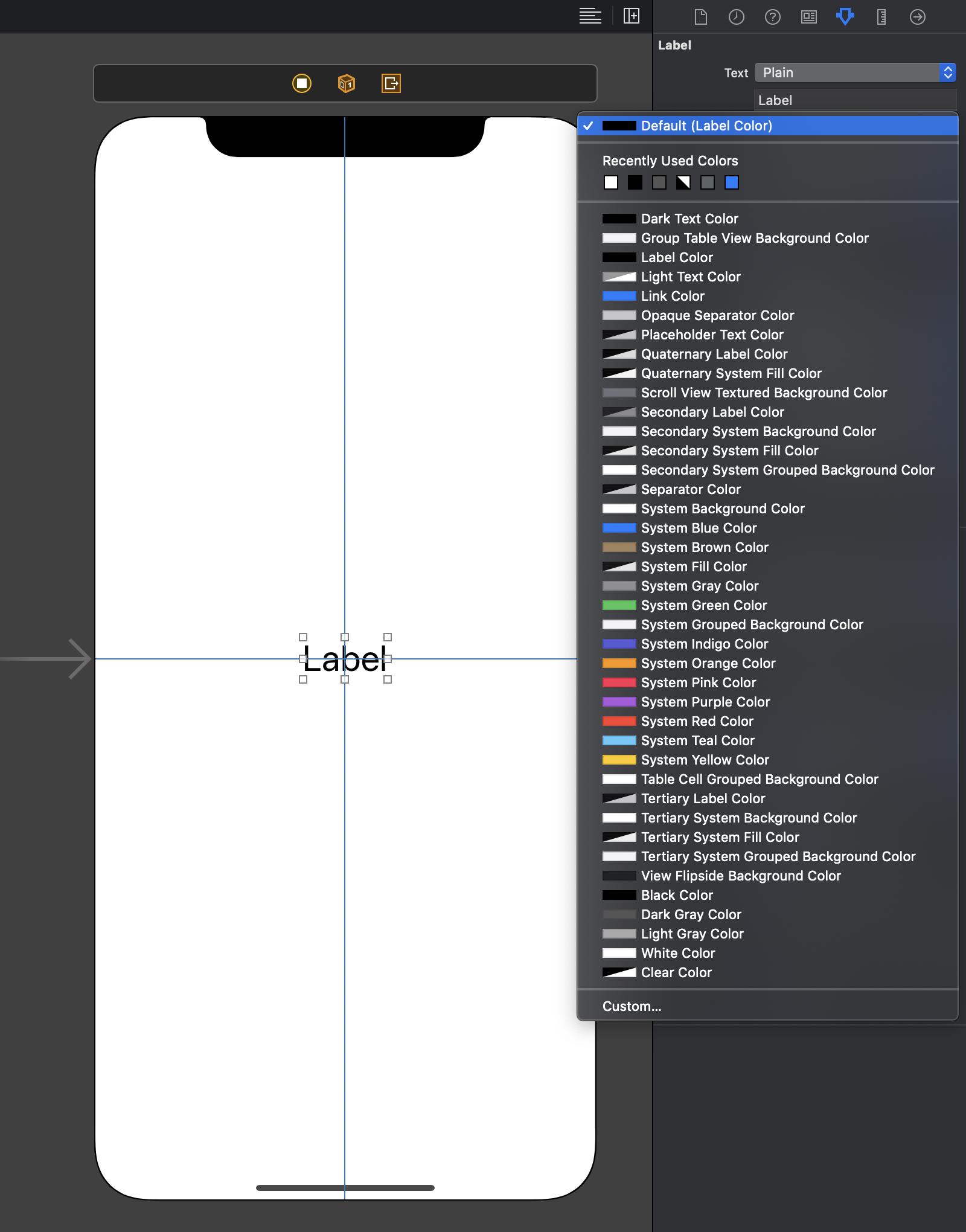Im Interface Builder stehen die Dynamic Colors neben den klassischen Static Colors zur Auswahl bereit.