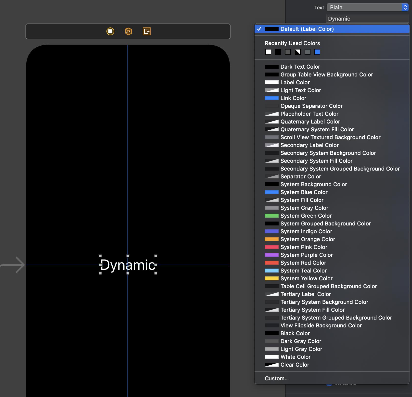 """Die Dynamic Colors reihen sich nahtlos in die """"statischen"""" Farben ein und sind an beschreibenden Titeln wie """"Label Color"""" oder Wörtern wie """"System"""" zu erkennen."""