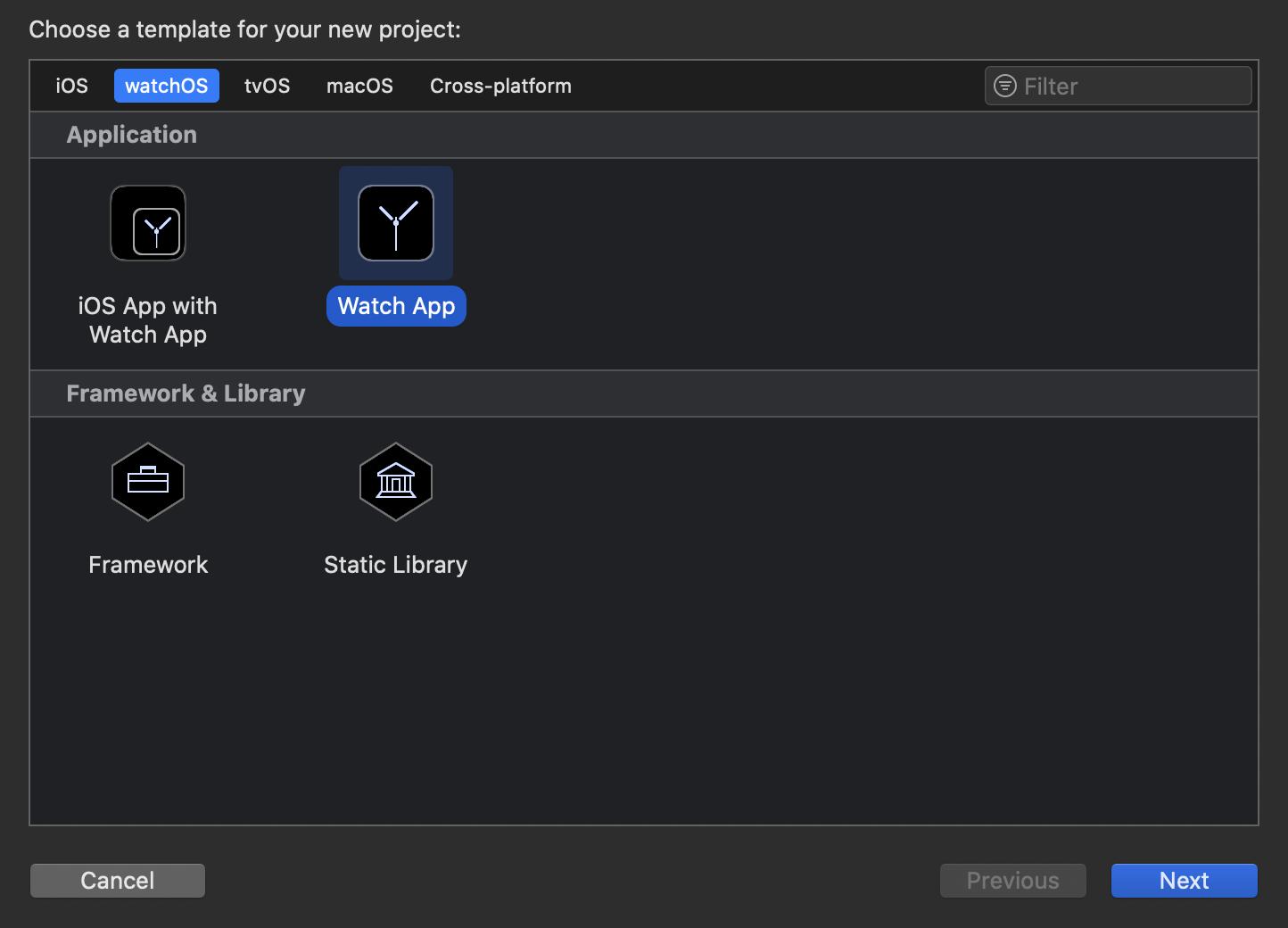 Ab Version 11 bringt Xcode – passend zu den neuen Möglichkeiten in watchOS 6 – eine Vorlage zum Erstellen einer reinen Apple Watch-App mit.
