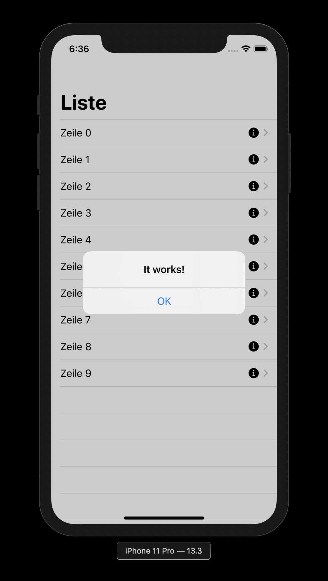 Nutzt man statt einer Button-Instanz den onTapGesture-Modifier auf einer gewünschten View, lassen sich so Schaltflächen in Listenzellen umsetzen.