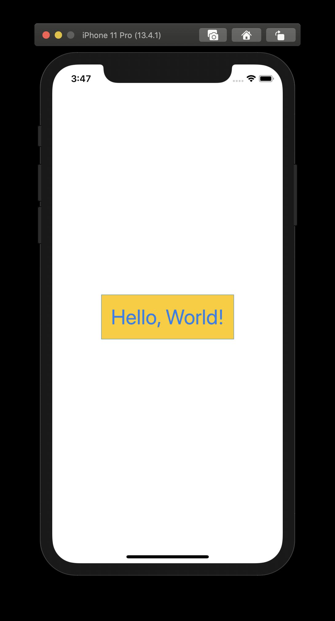 Diese Text-View wurde mithilfe eines eigens kreierten Modifiers angepasst.