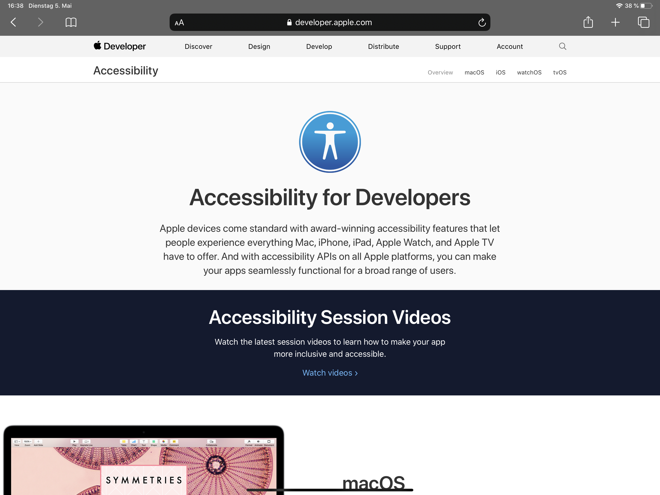 Die offizielle Accessibility-Seite von Apple stellt einen idealen Einstieg in die Thematik dar.