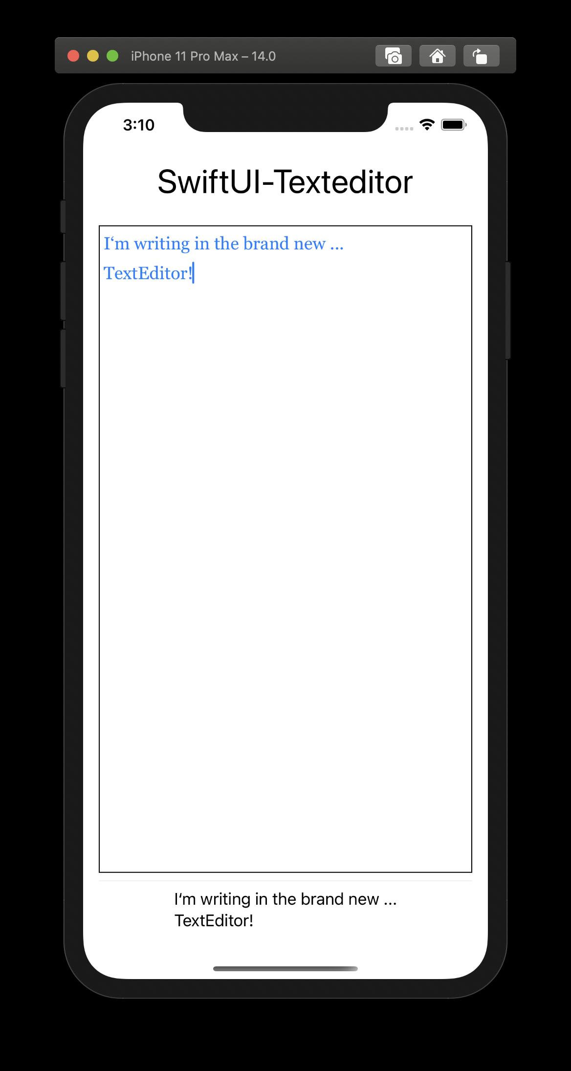 SwiftUI verfügt endlich über eine eigene Text-View namens TextEditor!