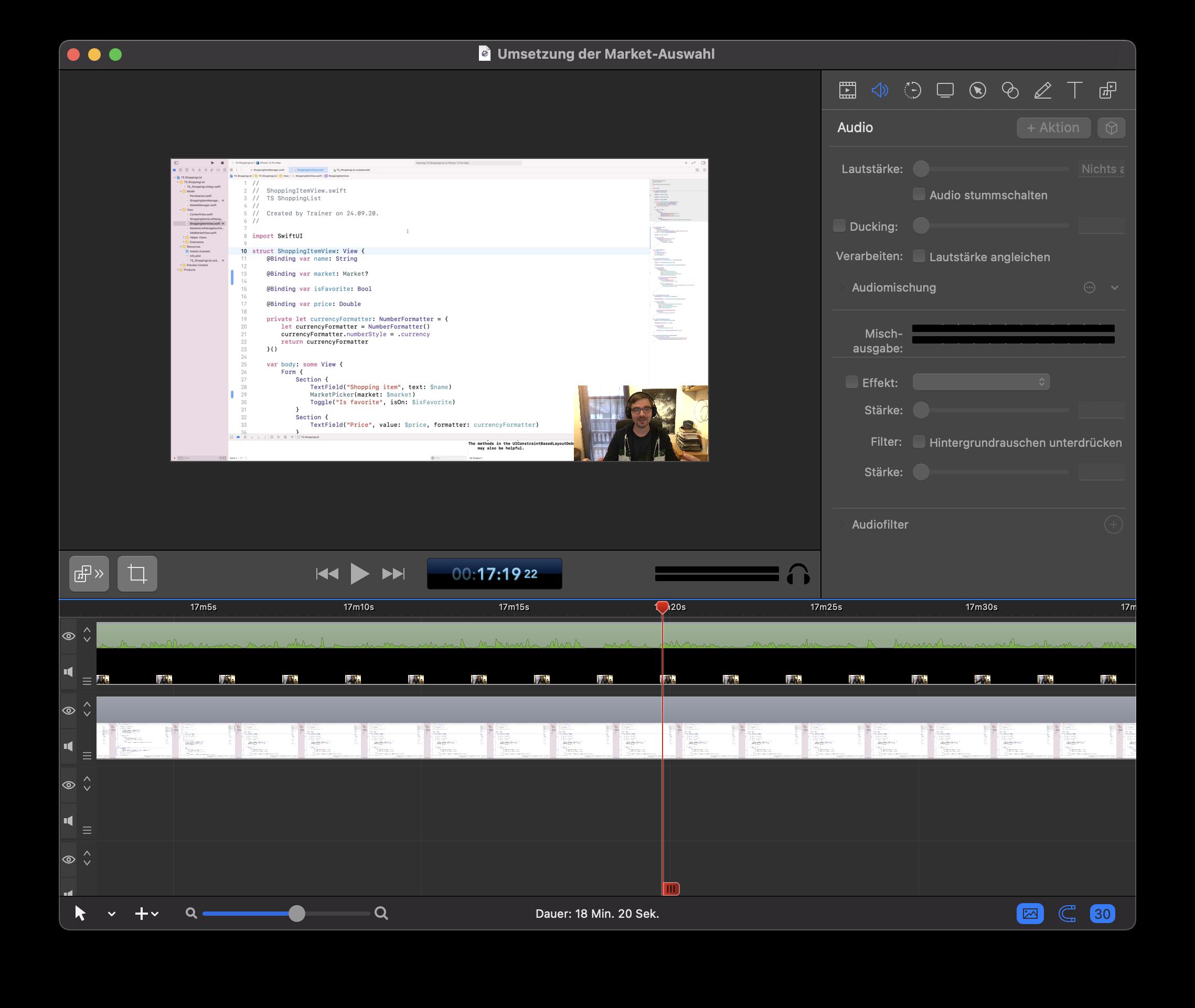 Screenflow ist die App, mit der ich all meine Let's Codes und YouTube-Videos aufzeichne.